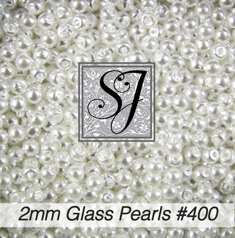 2mm Round Glass Pearls