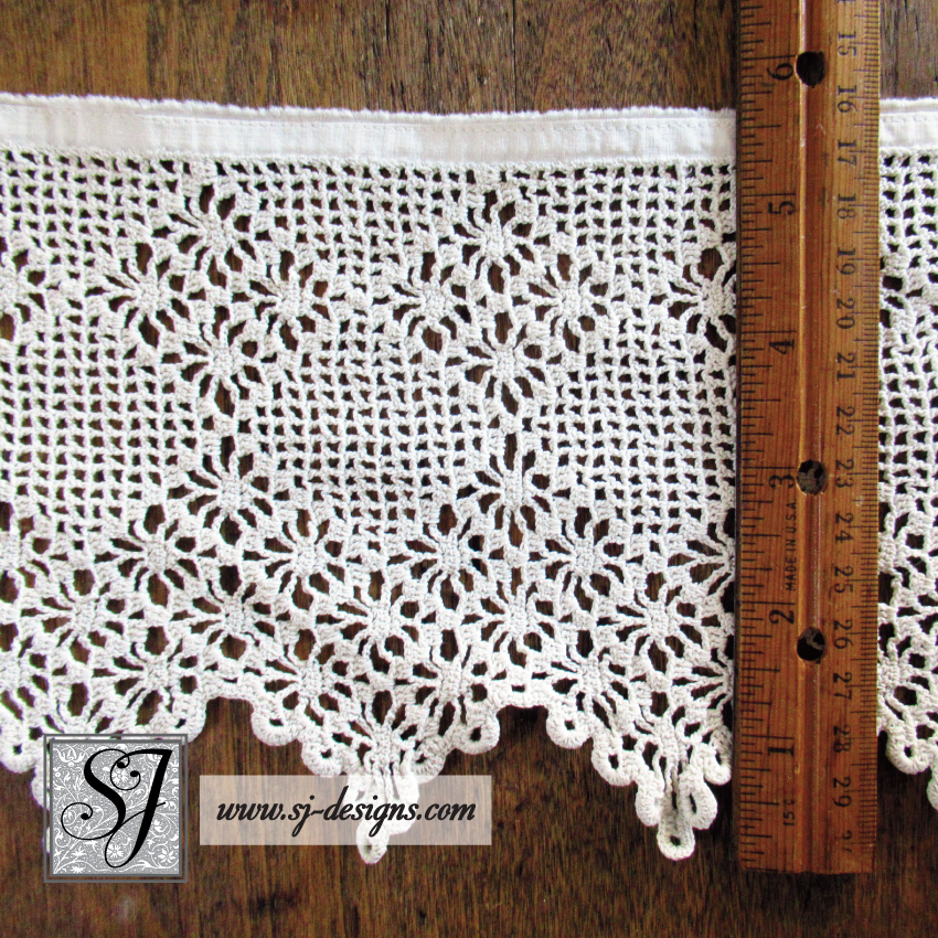 Vintage Filet Crochet Edging 5 12 Deep By 3 Yards Long Sj Designs