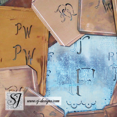 """P"" Monogram Stencils"